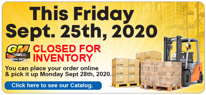 closed for inventory 2020
