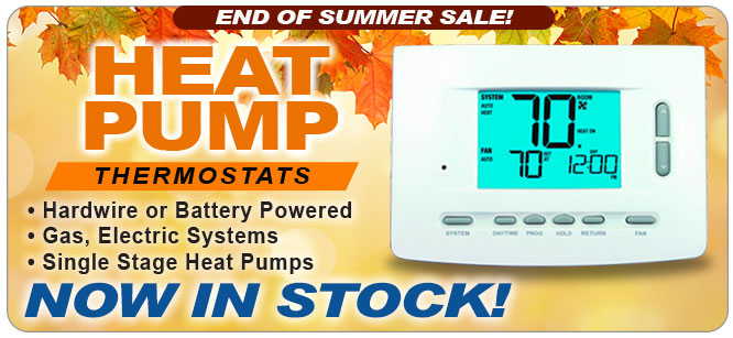 heat pump thermostats in stock